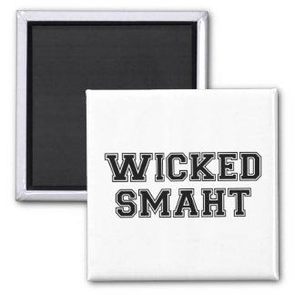Wicked Smart (Smaht) College Boston Square Magnet