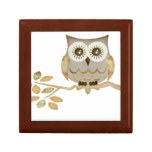 Wide Eyes Owl in Tree Gift Box