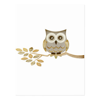 Wide Eyes Owl in Tree Postcard