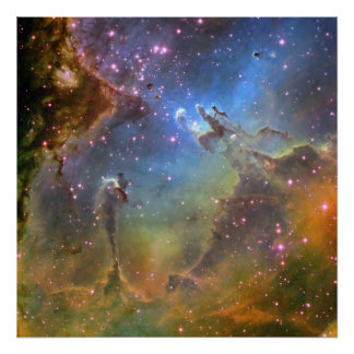 Wide-Field Image of the Eagle Nebula Poster
