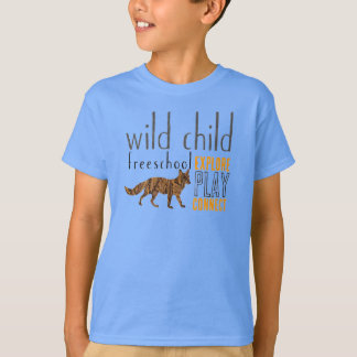 Wild Child Fox Design Dark Tshirt