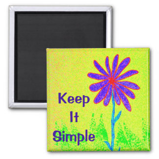 Wild Flower Keep It Simple Square Magnet
