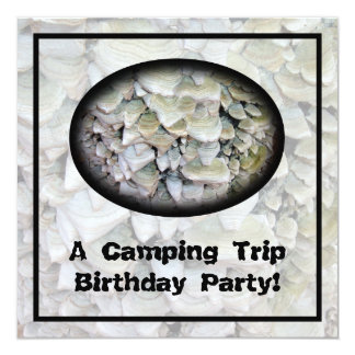 Wild Mushrooms Camping Birthday Party 13 Cm X 13 Cm Square Invitation Card