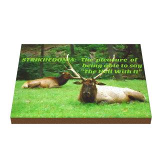 Wildlife Elk Hunters Attitude Stretched Canvas Print