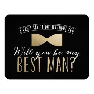 Will you be my Best Man? | Groomsmen 11 Cm X 14 Cm Invitation Card
