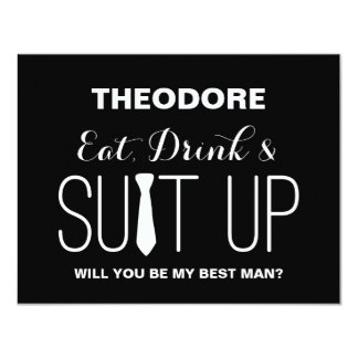 Will you be my Best Man ? | Groomsmen 11 Cm X 14 Cm Invitation Card