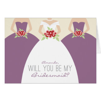 Will You Be My Bridesmaid Card (lavender)