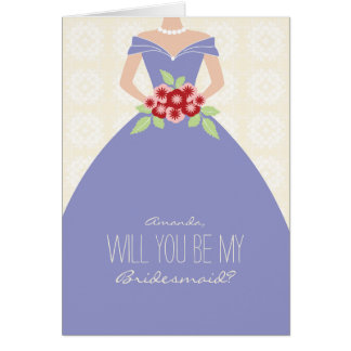 Will You Be My Bridesmaid Card (periwinkle)