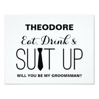Will you be my Groomsman ? | Groomsman 11 Cm X 14 Cm Invitation Card