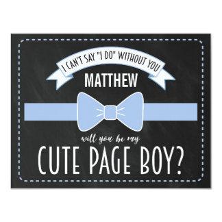 WILL YOU BE MY PAGE BOY? | PAGE BOY 11 CM X 14 CM INVITATION CARD