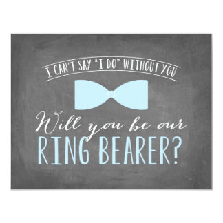 Will you be my Ring Bearer ? | Groomsmen 11 Cm X 14 Cm Invitation Card