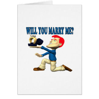 Will You Marry Me 12 Greeting Card