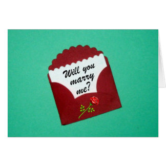 Will you marry me? greeting card