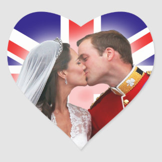 William & Catherine Royal Wedding Kiss Stickers