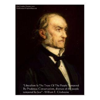 "William Gladstone ""Liberals & Conservative"" Gifts Postcard"
