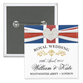 William & Kate Wedding Souvenir Pins