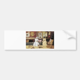 William Merritt Chase A Freindly Call Bumper Sticker