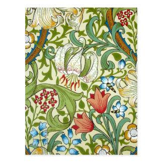 William Morris Garden Lily Fine Art Postcard
