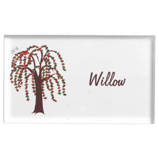 Willow Tree with Hearts - Customizable Table Card Holder
