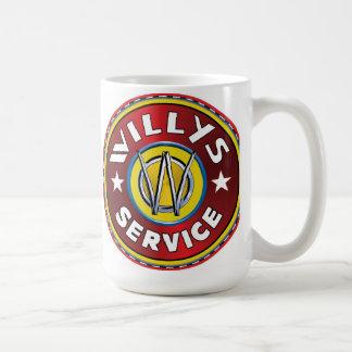Willys authorized service sign basic white mug