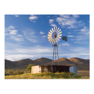 Windmill And Dam In The Karoo At Sunrise Postcard