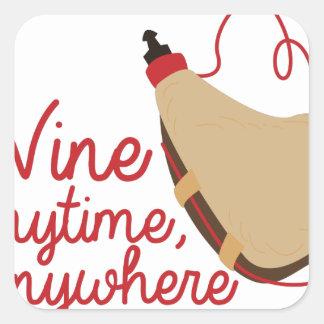Wine Anytime Square Sticker