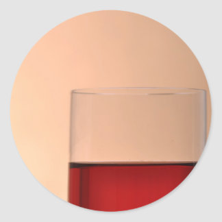 Wine lover round sticker