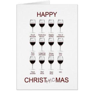 Wine tasting funny Christmas card