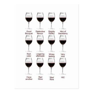 Wine tasting postcard