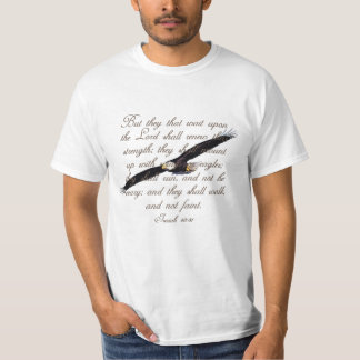 Wings as Eagles, Isaiah 40:31 Christian Bible Tshirts