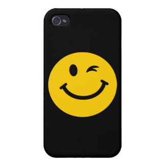 Winking smiley face iPhone 4/4S case