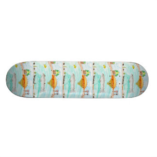 Winning artwork by C. Rousseau, Grade 4 Skate Board Decks