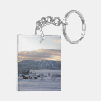Winter Morning #1 Double-Sided Square Acrylic Key Ring