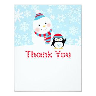 Winter ONEderland Birthday | Flat Thank You Note 11 Cm X 14 Cm Invitation Card