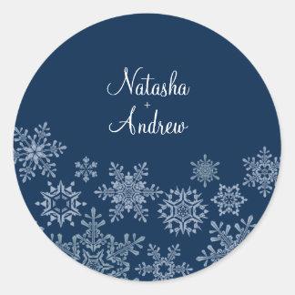 Winter Snowflakes Wedding Envelope Seal Sticker