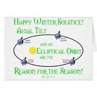Winter Solstice Axial Tilt Greeting Card