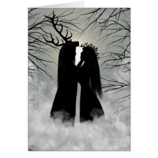 Winter Solstice God and Goddess Greeting Card