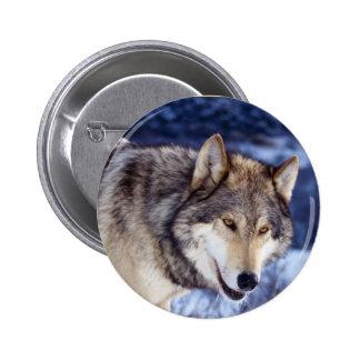 Winter Wolf 2 6 Cm Round Badge