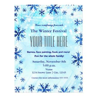 Winter Wonderland Type Festival Event Flyer Poster