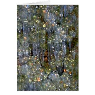 Winter's Diamonds Greeting Card