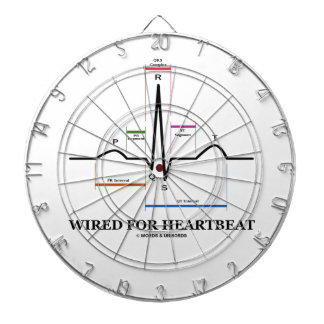 Wired For Heartbeat (Electrocardiogram) Dartboard With Darts
