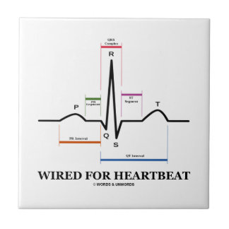 Wired For Heartbeat (Electrocardiogram) Small Square Tile