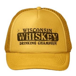 Wisconsin Whiskey Drinking Champion Cap
