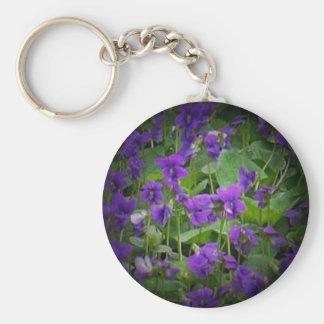 Wisconsin Wood Violet Spotlight Keychain