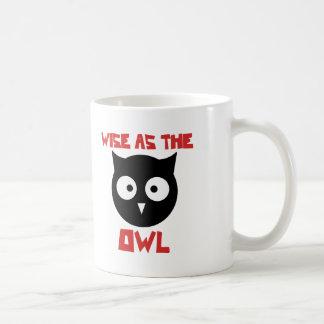 Wise as the Owl Basic White Mug