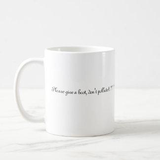 wise owl basic white mug