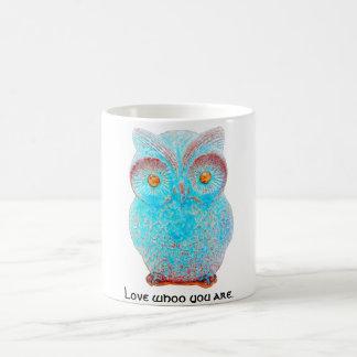 "Wise Owl says ""Love Whoo You Are."" Basic White Mug"