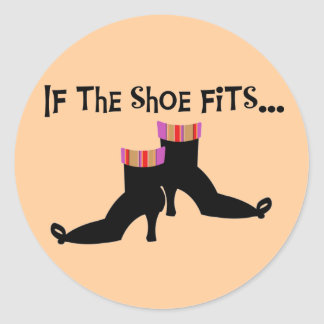 Witch Shoes T-shirts and Gifts Round Sticker