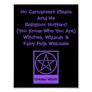 Witches Wizards and Fairy Folk Welcome Poster