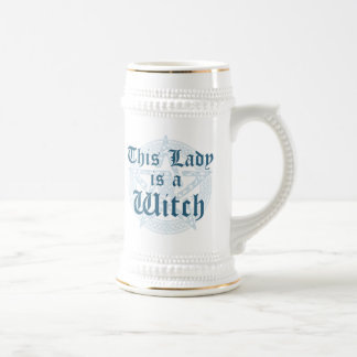 Witch's Slogan and Magick Pentacle Beer Steins